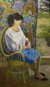 AR Dorothy Morton (1905-1999), Portrait of a seated lady, oil on board, signed and dated 88 lower
