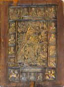 "A Balachurowa (20th century), ""Icon"", silver plated copper on wood, 39 x 30cm"