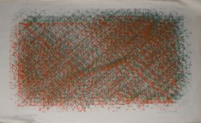 "AR David Leverett (1938-2020), ""3 x 3 Shift 73"", lithograph, signed, inscribed with title and"