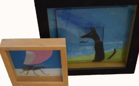 AR Pippa King (Contemporary), Figures, Landscapes etc, group of 8 mixed medias, assorted sizes
