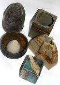 Group of Studio Pottery wares including two small bowls, small vase and further bowl (6)