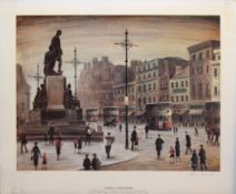 Arthur Delaney (1927-1987), Piccadilly, coloured print, signed and numbered 541/650 in pencil to