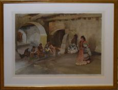 Sir William Russell Flint, Spanish beauties, artist's coloured proof, signed in pencil to lower