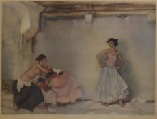 "Sir William Russell Flint, ""Casilda's white petticoat"", artist's coloured proof with publisher's"