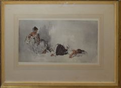 Sir William Russell Flint, Spanish beauties, artist's coloured proof with publisher's blind stamp,