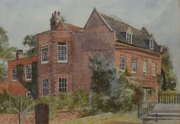 F N Collis, A House, watercolour, signed and dated May 1922 lower right, 27 x 41cm