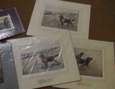 Folder of assorted prints, engravings etc, to include Henry Wilkinson, all unframed