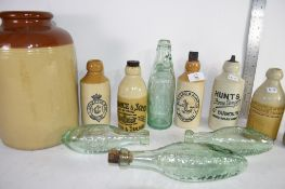 VARIOUS LOCAL INTEREST STONEWARE BOTTLES INCLUDING HUNTS GREAT YARMOUTH, BULLARD NORWICH, TOGETHER