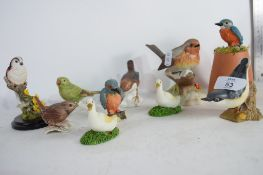 COLLECTION OF VARIOUS GOEBEL BESWICK AND OTHER BIRD FIGURES