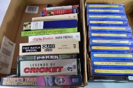 TWO BOXES VARIOUS BOOKS INCLUDING ARTHUR RANSOME SWALLOWS AND AMAZONS SERIES ETC