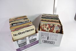 """TWO BOXES OF 7"""" SINGLE RECORDS MOSTLY 1980S POP MUSIC"""