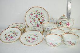 PART ASTLEY FLORAL DECORATED TEA SET