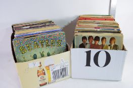 """TWO BOXES OF 7"""" SINGLE RECORDS INCLUDING BEATLES, LIONEL RICHIE ETC"""