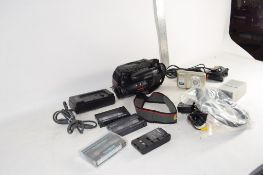 BOX CONTAINING NIKON DVD CAMERA AND OTHER EQUIPMENT