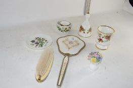 CERAMICS INCLUDING ROYAL ALBERT OLD COUNTRY ROSES VASE AND BELL ETC
