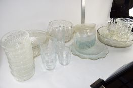 GLASS WARES, FRUIT DISHES, BOWLS ETC