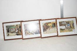 GROUP OF PICTURES AND PRINTS IN WOODEN FRAMES, OF TAVERN SCENES
