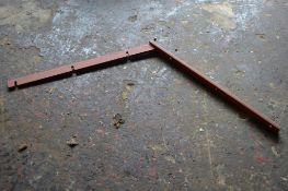 Ten metal brackets