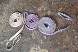 Three lifting straps