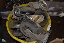 One bucket of caster wheels (qty)