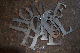 Bag of steel letters