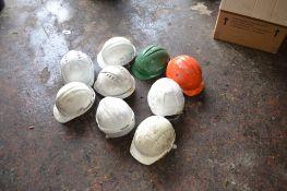 Box of hard hats, 9 hats