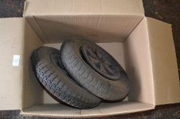 Two pneumatic tyres, 37cm diam