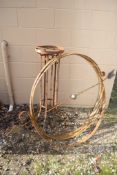 LARGE STEEL ARMILLARY H APPROX 205CM