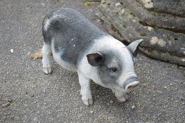 RESIN PIG FIGURE, H 24CM L 42CM