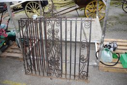 PAIR DECORATIVE IRON GATES W 125CM H 135CM