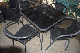 GARDEN TABLE & FOUR CHAIRS