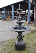 3 TIER WATER FOUNTAIN H200 CM W 95CM APPROX