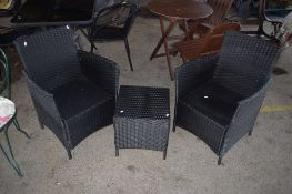 GARDEN SET COMPRISING 2 X CHAIR AND SIDE TABLE