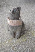 COMPOSITION CAT STATUE H 30CM