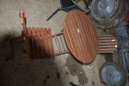 GARDEN SET COMPRISING 2 X CHAIR AND TABLE