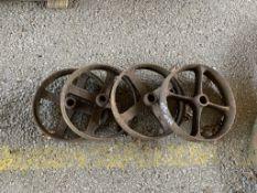 Set four cast iron Wheels
