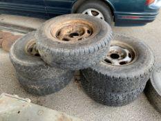 Five vintage off-road Wheels & Tyres