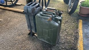 Three various Jerry Cans