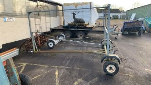 Galvanised dual Dinghy (boat) Trailer