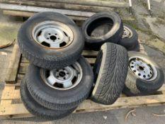 Pallet various Wheels/Tyres