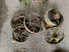 Eight various cast iron Wheels