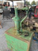 Vintage hand Oil Pump