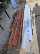 Pallet various RSJ and galvanised box section max length approx 9'