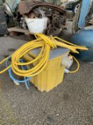 110v site transformer and extension cables