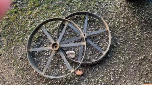 Four cast iron Wheels