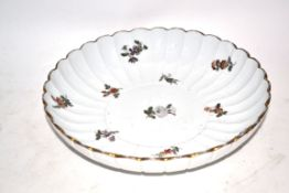 Meissen dish decorated with floral sprays in Marcolini style, 19cm diam