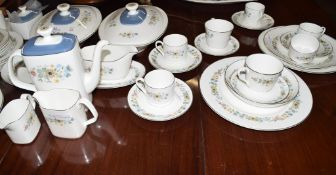 Extensive Royal Doulton dinner and tea service in the Pastoral pattern, circa 1970s, comprising