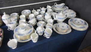 Extensive quantity of Coalport dinner wares in the Revelry pattern, comprising plates, side