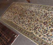 Modern Kashan carpet, 300 x 100cm