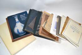 Quantity of ceramic literature mainly on Lowestoft porcelain